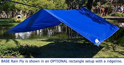 Chill Gorilla 12' Pro Rain Fly Blue, Waterproof Tent Tarp, Hammock Shelter [Essential Camping and Survival Gear] DIAMOND RIPSTOP Nylon 12' x 12'