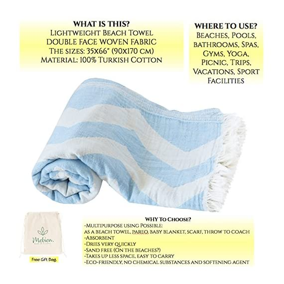 Mebien Turkish Beach Bath Towel-Ocean Design Blue Luxury peshtemal for spa Pool Bathroom Sand Free %100 Cotton Blanket Towels Set, Gift for Women Sizes: 33x66 inches - NATURAL TURKISH BEACH BATH TOWEL: in bathroom, pools, spas, beaches, gyms, saunas, hammam, yogas HOME TEXTILE: Throw to your coach, chair, sofa, and bed. purple, yellow, light grey, pink, orange .. BLANKET: Travel, beach, picnic, camping or for your baby , quick dry classic multi colour products. - bathroom-linens, bathroom, bath-towels - 51v8amImwuL. SS570  -
