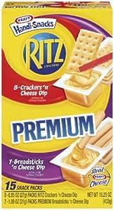Kraft Handi-Snacks Ritz Cheese Variety Pack, 15.23-Ounce Boxes (Pack of 4)