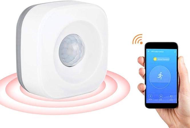Sensor de movimiento PIR, WiFi Smart Home Detector de movimiento por infrarrojos de alta precisión Sensor de alarma antirrobo de seguridad inalámbrico para la oficina en casa Alarma de seguridad: Amazon.es: Hogar