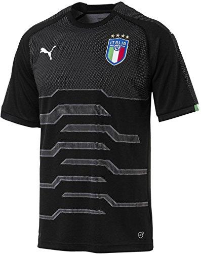 PUMA Men's FIGC Italia Goalkeeper Shirt Replica, Black, (Puma V-neck Jersey)