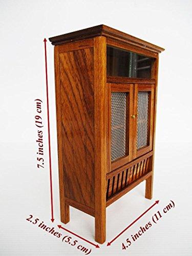 Mini Pantry Teak wood cabinet Thai vintage Cupboard furniture Carved Handmade (Thailand Teak Furniture)