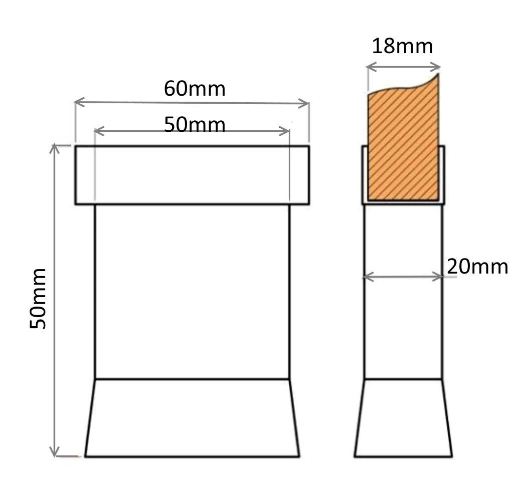 AERZETIX Altura 100mm 4x Patas pies ajustables regulables para paneles 18mm madera tablero de aglomerado melamina mdf osb C42683