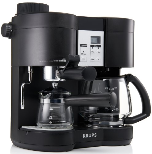 Krups XP160050 Coffee Maker and Stainless Espresso Machine ...