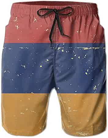 fb46aa3d28 Armenia Flag Hand Painted Mens Quick Dry Sports Summer Printing Swimwear Beach  Board Shorts Trunks Pants
