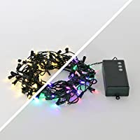 Strand of 100 Dual Color Option LED Classic M5 Bulb Battery String Lights