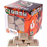 FireStar Squares Fire 50 pc in Pack-Grill Charcoal Starter Cubes Campfires and Camping Burns 12 min-Waterproof firestarters for Fireplace