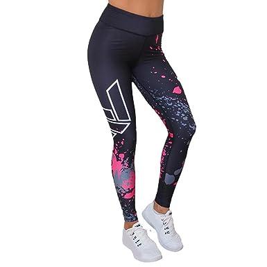 OHQ Pantalon De Yoga❤️Pantalon De Yoga Imprimé Pour Femme Noir Mode  FéMinine Leggings D f669d7df28f