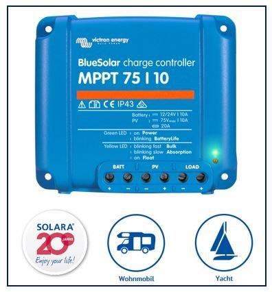 Premium Set Victron MPPT 75/10 Laderegler fü r Wohnmobile Victron Energy