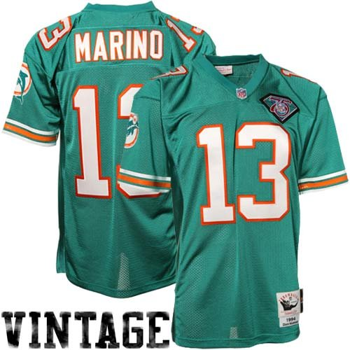 Mitchell & Ness Dan Marino Miami Dolphins 1994 Authentic Throwback Jersey - Aqua (48) (Authentic Nfl Throwback Football Jersey)