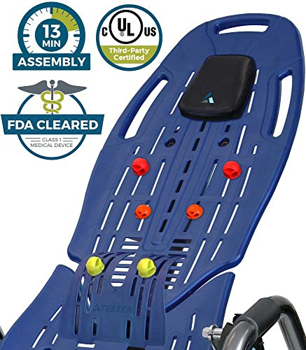Teeter Ep 960 LTD. Ep 960 LTD Inversion Table, Precision Engineering, with Extended Ankle Lock Handle & Better Back Accessories, Blue (Certified Refurbished)