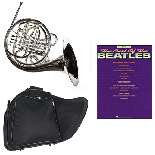 Band Directors Choice Silver Plated Double French Horn Key of F/Bb - Best of The Beatles Pack; Includes Intermediate French Horn, Case, Accessories & Best of The Beatles Book by Double French Horn Packs