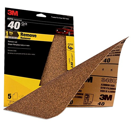 3M Production Sheet, 32118, 9 in x 11 in, 40 grit