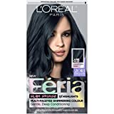 L'Oréal Paris Feria Multi-Faceted Shimmering Permanent Hair Color, 411 Downtown Denim, 1 kit Hair Dye