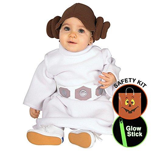 Princess Leia Tm Infant/toddler Halloween Trick or Treat Safety Kit Infant 18-24 (Princess Leia Costumes For Kids)