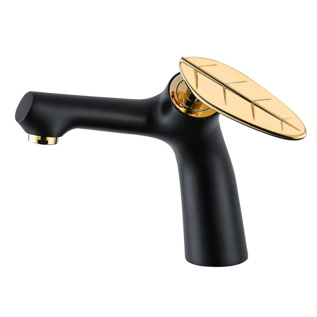 モノ流域ミキサータップ彫刻パターンバスルームシンクタップレバー洗面器蛇口流域タップモーダルラウンドソリッドブラスバスルームシンクミキサータップ B07JQ5TNS4