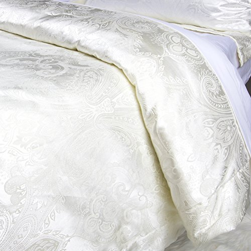 Luxurious Duvet Cover Sets Cotton Rich Silky Woven Jacquard Breathable Stain and Fade Resistant Memories of Italy (Sienna, Queen)