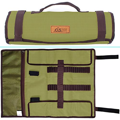 (Tent Stake Storage Bag, Heavy Duty Oxford Polyester Case for Tent Pegs and Camping Hammer, Pretty Handy to Store All Your Camp Stuff in)