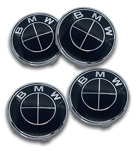 M (Set of 4) Wheel Center Caps Hub Caps 68mm Black/Standard Fit