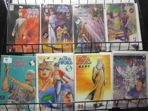 Manga Comics Lot of 43 Jademan Blood Sword Drunken Fist Oriental Heroes Buddha