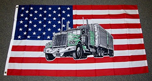 Flag Rig (3x5 USA United States Mack Truck Big Rig Flag 3'x5' Banner Brass Grommets )