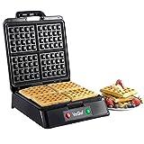 5 in 1 waffle maker - VonShef Quad 4 Slice Belgian Waffle Maker Iron Machine Black