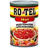 Ro-Tel, Diced Tomatoes, Hot, 10oz Can (Pack of 6)