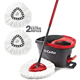 O-Cedar EasyWring Microfiber Spin Mop and Bucket Floor Cleaning System with 2 Extra Refills
