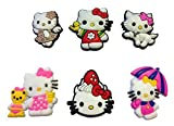 Hello Kitty Shoe Charms 6 Pcs Set #2