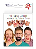 The Home Fusion Company 16 Face Mats Cards Funny Beer Game Double Sided Ideal for Drinking Party Night