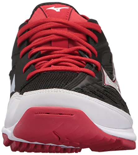 Turf Baseball Red Mizuno Men's Trainer 2 Players MIZD9 Shoes Black pnwap6q7