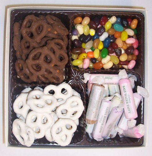Scott's Cakes Large 4-Pack Assorted Jelly Beans, Chocolate Pretzels, Yogurt Pretzels, & Salt Water Taffy