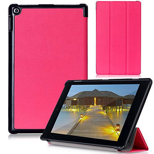 Fire HD 8 2015 Case - Cellularvilla Ultra Slim Smart-shell Case [Lightweight] Folding Stand Cover for Amazon Kindle Fire HD 8 inch Tablet (Fire HD 8