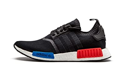 417ed4f8f Adidas NMD R1 PK Primeknit OG - Core Black Core Black Lush Red Trainer   Amazon.co.uk  Shoes   Bags