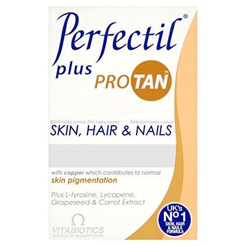 4 Units (Bulk Pack) Vitabiotics Perfectil Plus Pro Tan Skin, Hair & Nails 60 Tablets