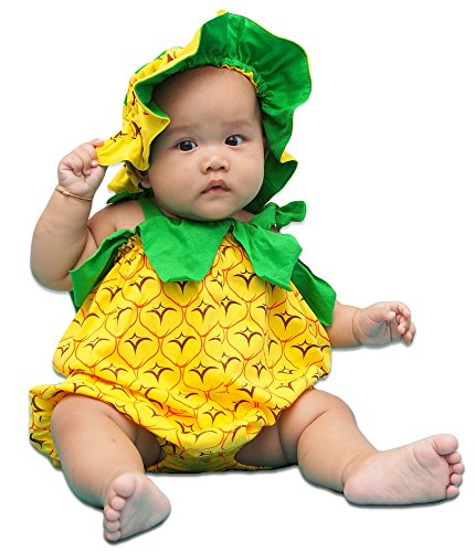 Cute Mad Hatter Costume For Girls (I-Fame Infants Pineapple Cute Costume Unisex-baby (S (4-7 months)))