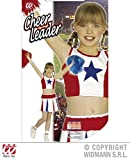 XL Girls CHEERLEADER WHITE/RED/BLUE Costume for American USA Sports Fancy Dress Outfit Extra Large 158cm 11-13yrs Childs Kids