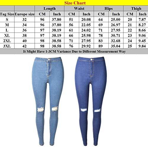 Agujero Jeggings Delgados Polainas Adelina Jeans Azul Mujer Para Más Ropa Rasgados Tamaño Elásticos Moda Pantalones Damas Desgastadas Oscuro Entalladas WPF7Wf