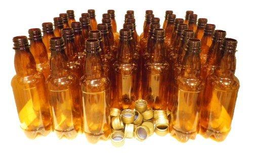 Plastic Beer Bottles & caps 500ml (pint) 20pk PET Amber Better Brew Homebrew NEW ()