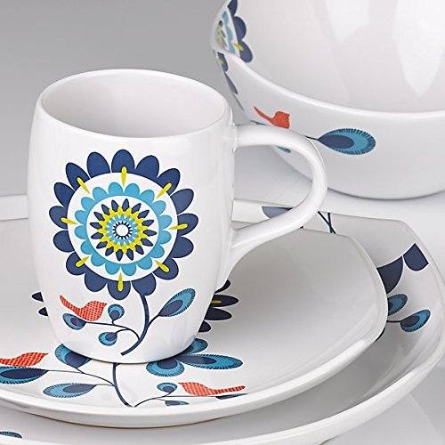 Dansk Classic Fjord Tweet 4 Piece Dishware Place Setting ()