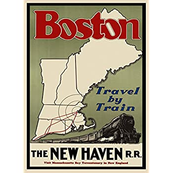 Amazon.com: Boston Massachusetts The New Haven Travel by Train New ...