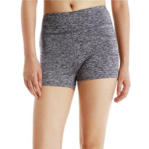 de para Pantalones cortos mujeres de entrenamiento correr cortos Pantalones deportivos Control Gris Yoga Ejercicio para vientre RqXzgwq