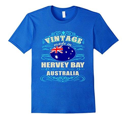Mens Made in HERVEY BAY Australia awesome T-Shirts Medium Royal - Shops Hervey Bay