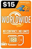 PREPAiD Worldwide | 3 in 1 SIM Card | GSM SiM | Travel/International Plan - 30 Days Service