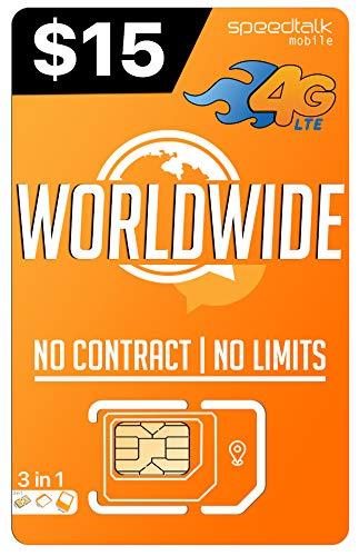 PREPAiD Worldwide | 3 in 1 SIM Card | GSM SiM | Travel/International Plan - 30 Days Service by Padfender