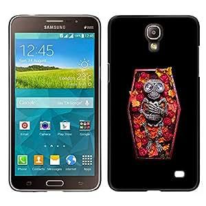 // PHONE CASE GIFT // Duro Estuche protector PC Cáscara Plástico Carcasa Funda Hard Protective Case for Samsung Galaxy Mega 2 / Skull Coffin Death Diamond Skeleton /