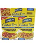 Ronzoni Gluten Free Pasta Sampler 3 Pack - Penne, Rotini, Spaghetti 12 oz each