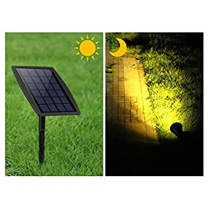LED Landscape Solar Spot lights Waterproof Outdoor Solar Spotlight for Backyard Driveway Patio Gardens Lawn,Dusk to Dawn Auto On Off (6000K-Daylight)