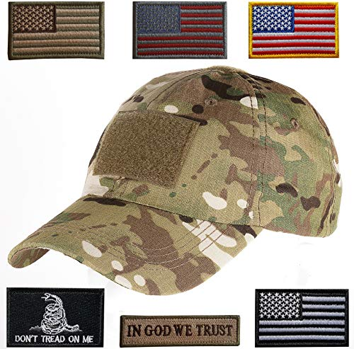 Lightbird Tactical Hat with 6 Pieces Tactical Military Patch