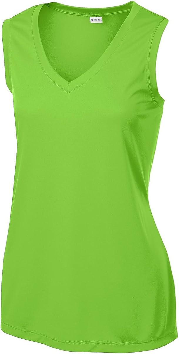 Sport-Tek Womens Sleeveless PosiCharge Competitor V Neck Tee